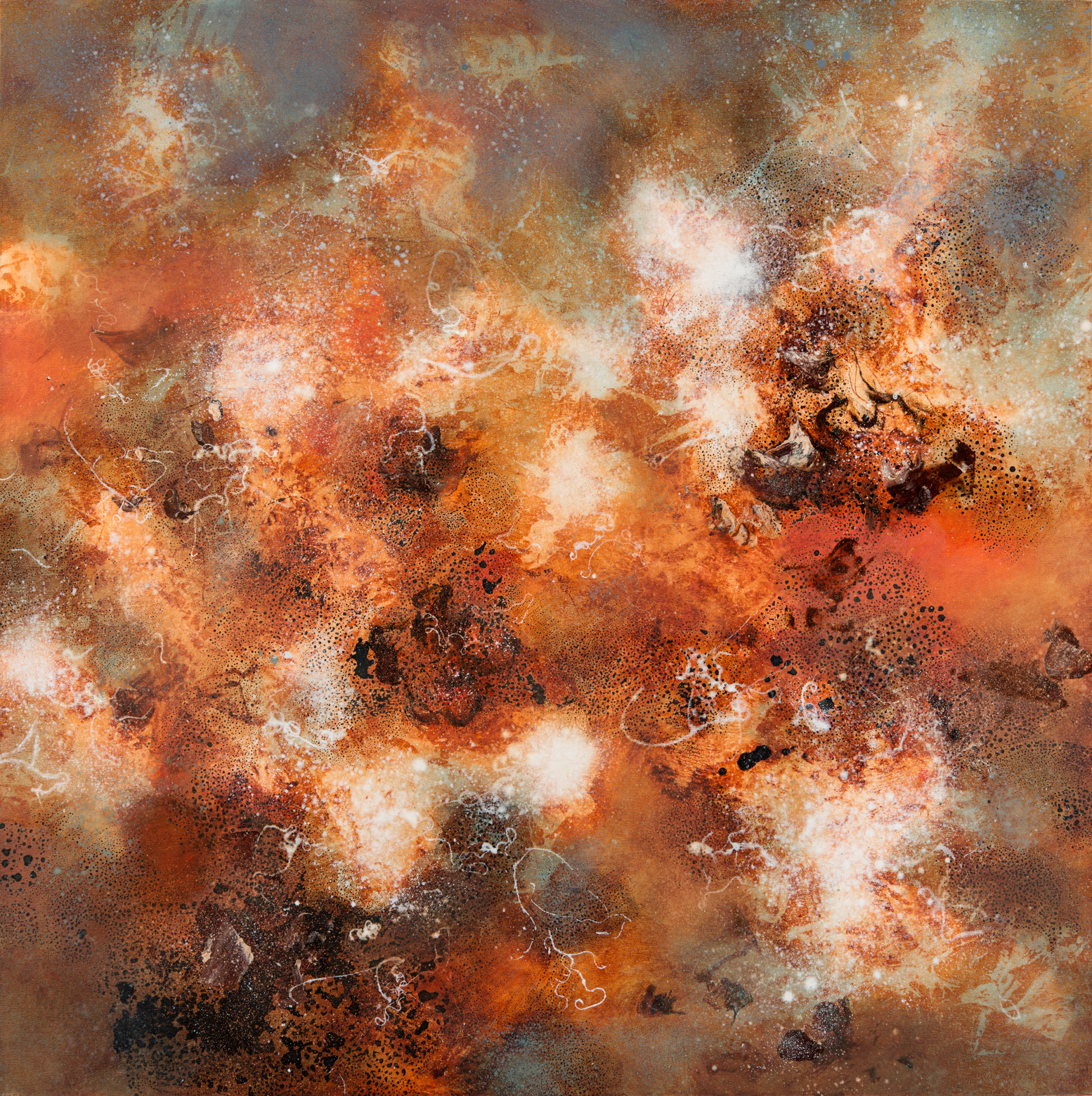 Primal Fusion, oil on canvas, 125 x 125 cm, SOLD