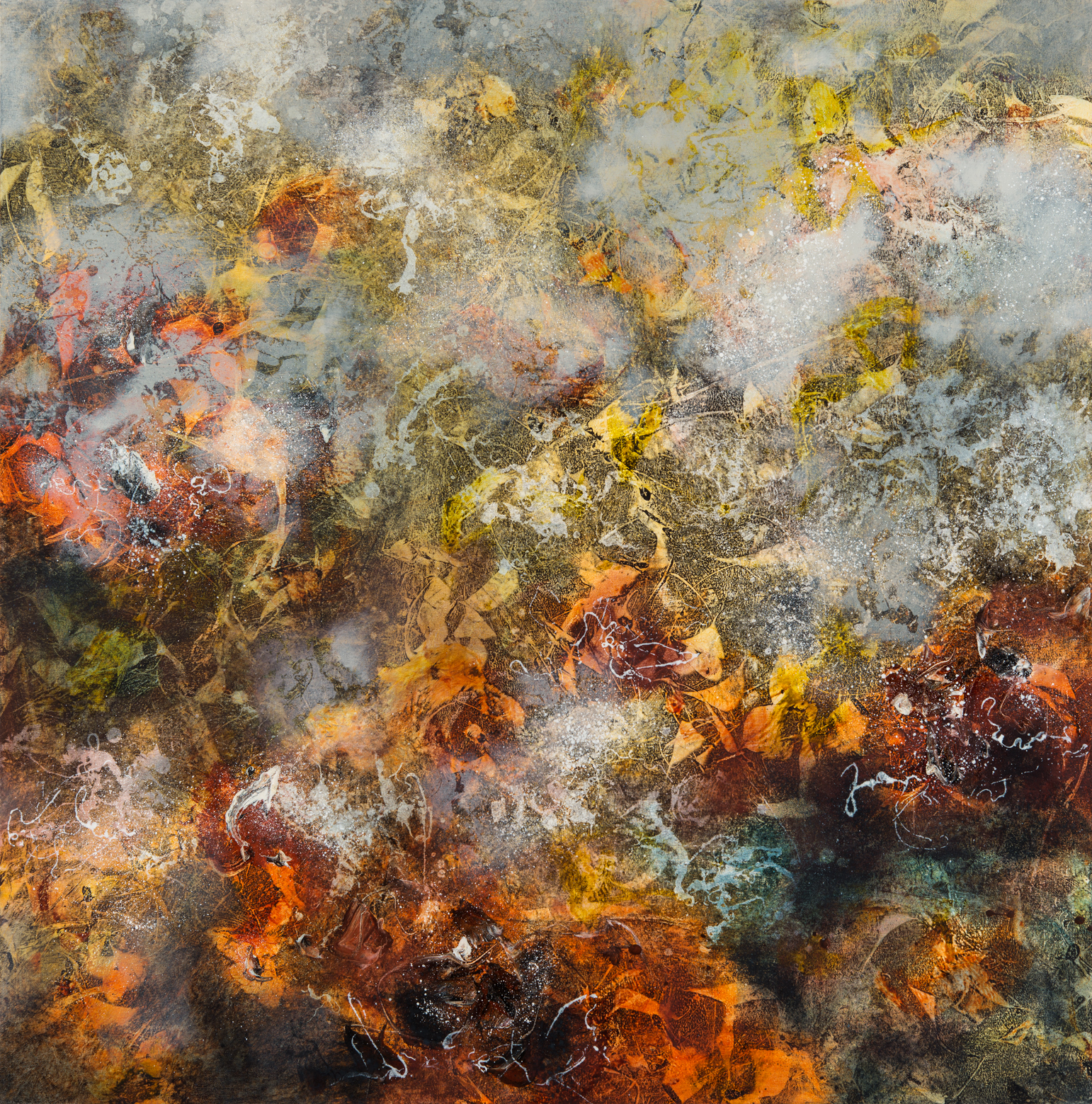 Origin, oil on canvas, 125 x 125 cm, SOLD