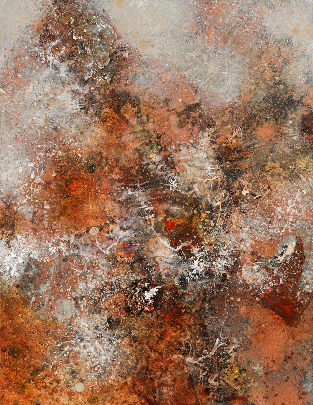 Copper Earth, mixed media on paper, 33 x 26 cm, SOLD