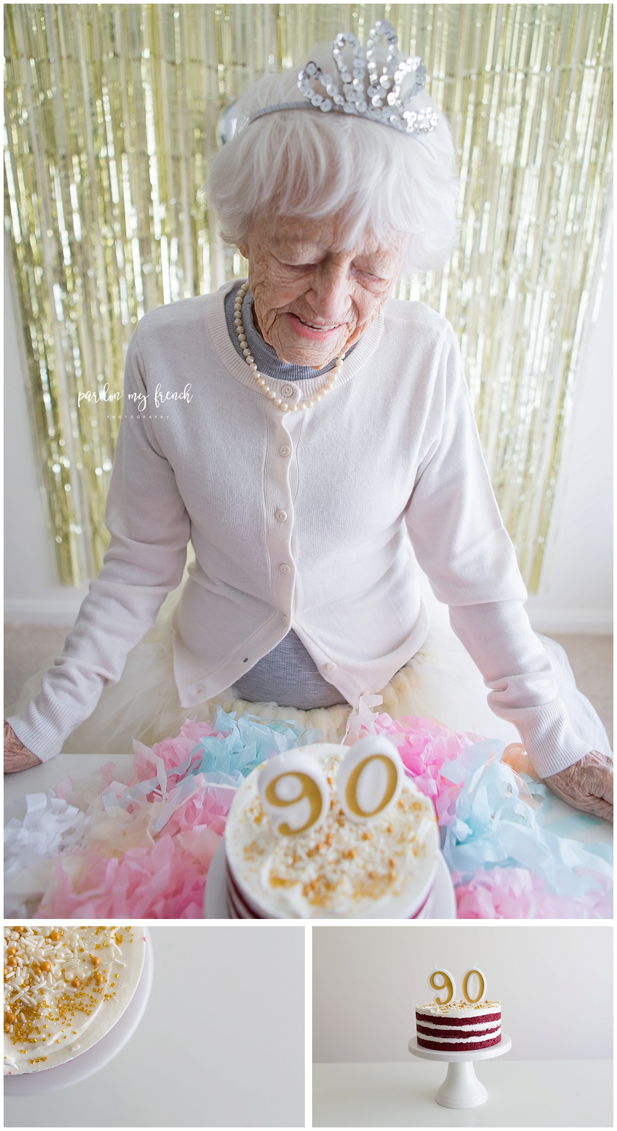 Adelaide Photographer 90 year old birthday cake smash copyright Pardon my French Photography 3.jpg
