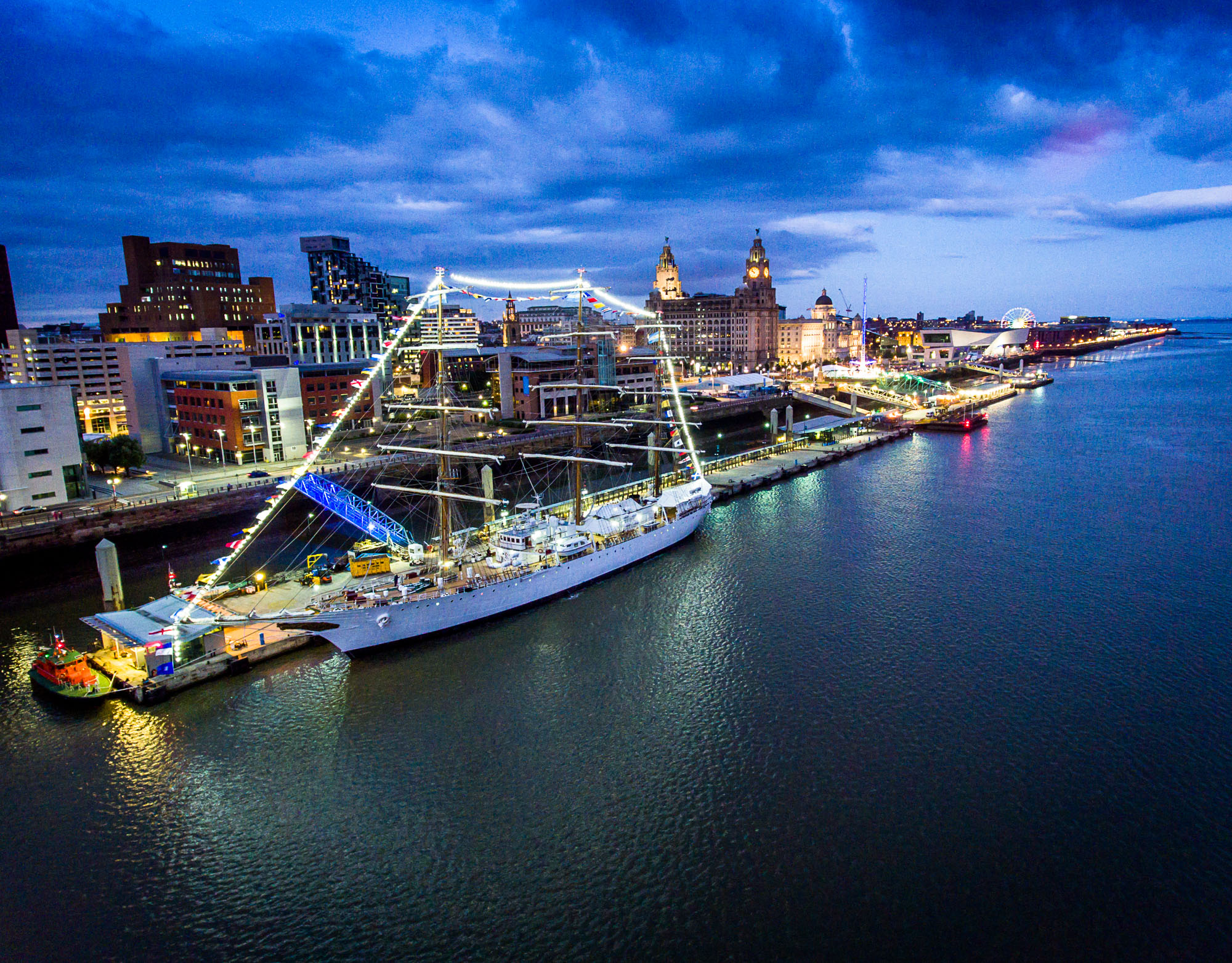 Tall Ship docks in Liverpool