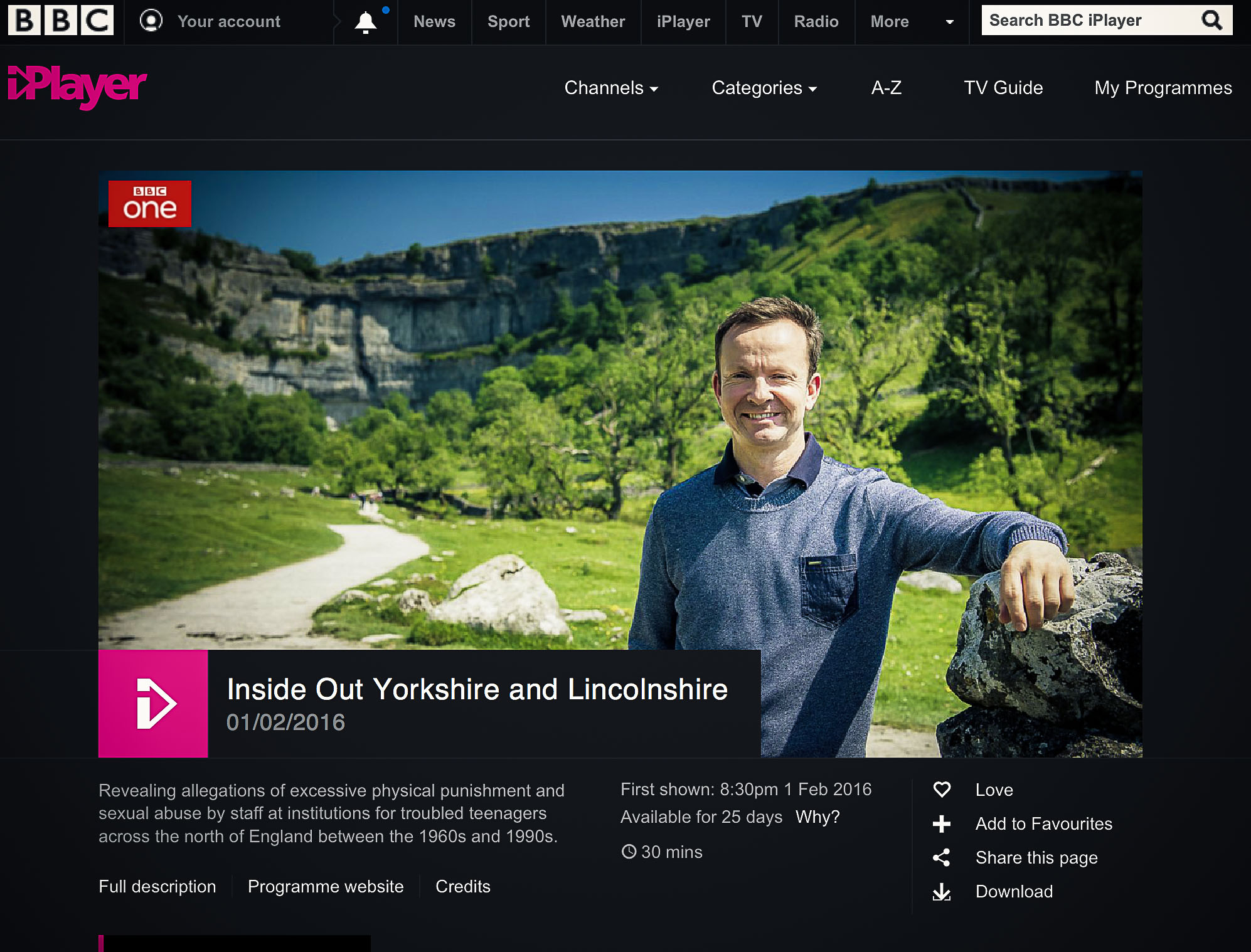 this is a photo of BBC iPlayer Paul Hudson - weather show