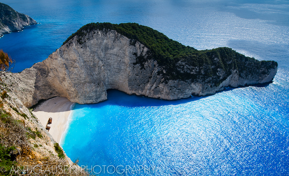 photo of shipwrecks bay zakynthos island greece