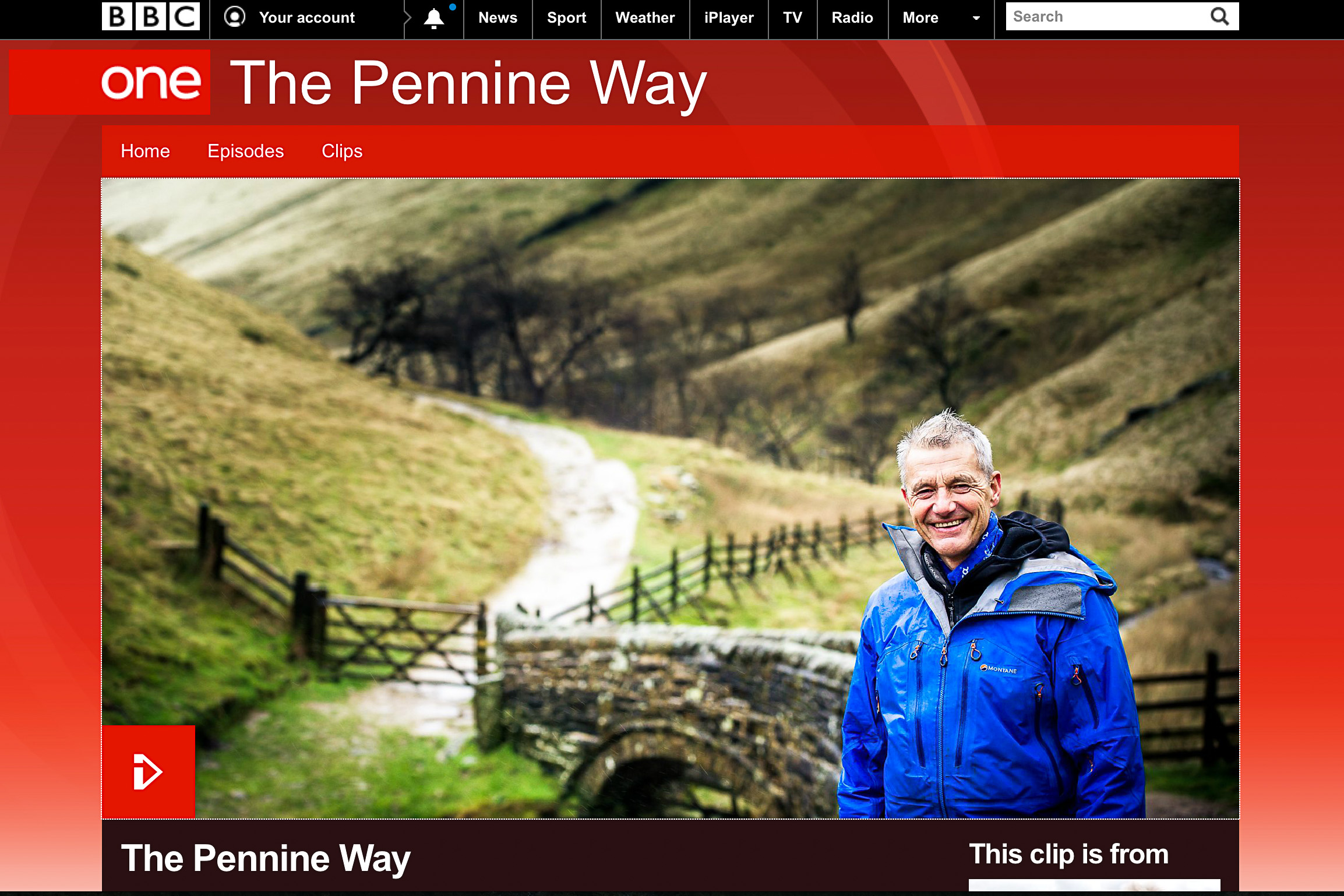 photo of BBC iPlayer Paul Rose presents the Pennine Way series