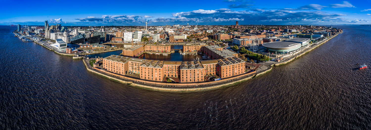 The Albert Dock Liverpool - some Drone Aerial photos from