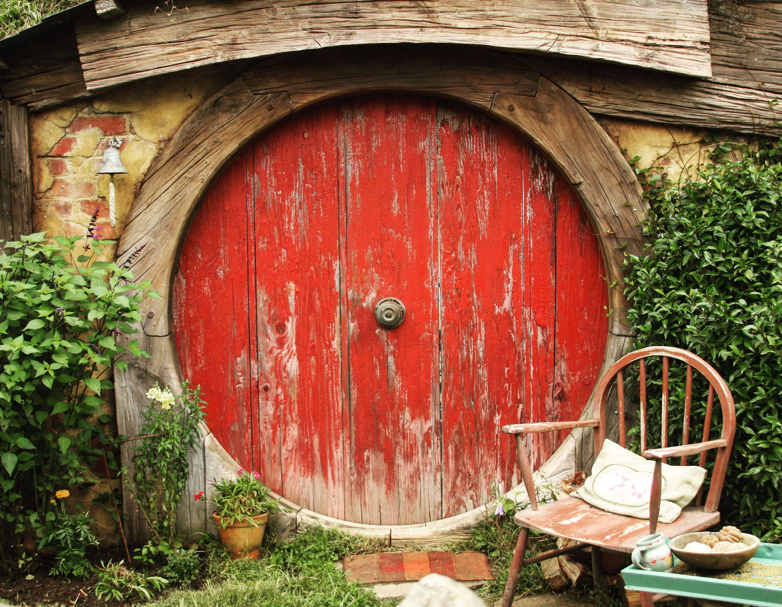 One of the many Hobbit doors.