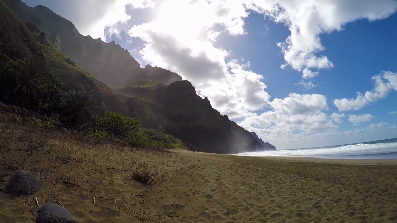 Some day I will return to camp on Kalalau and do some serious napping/reading on this beach.