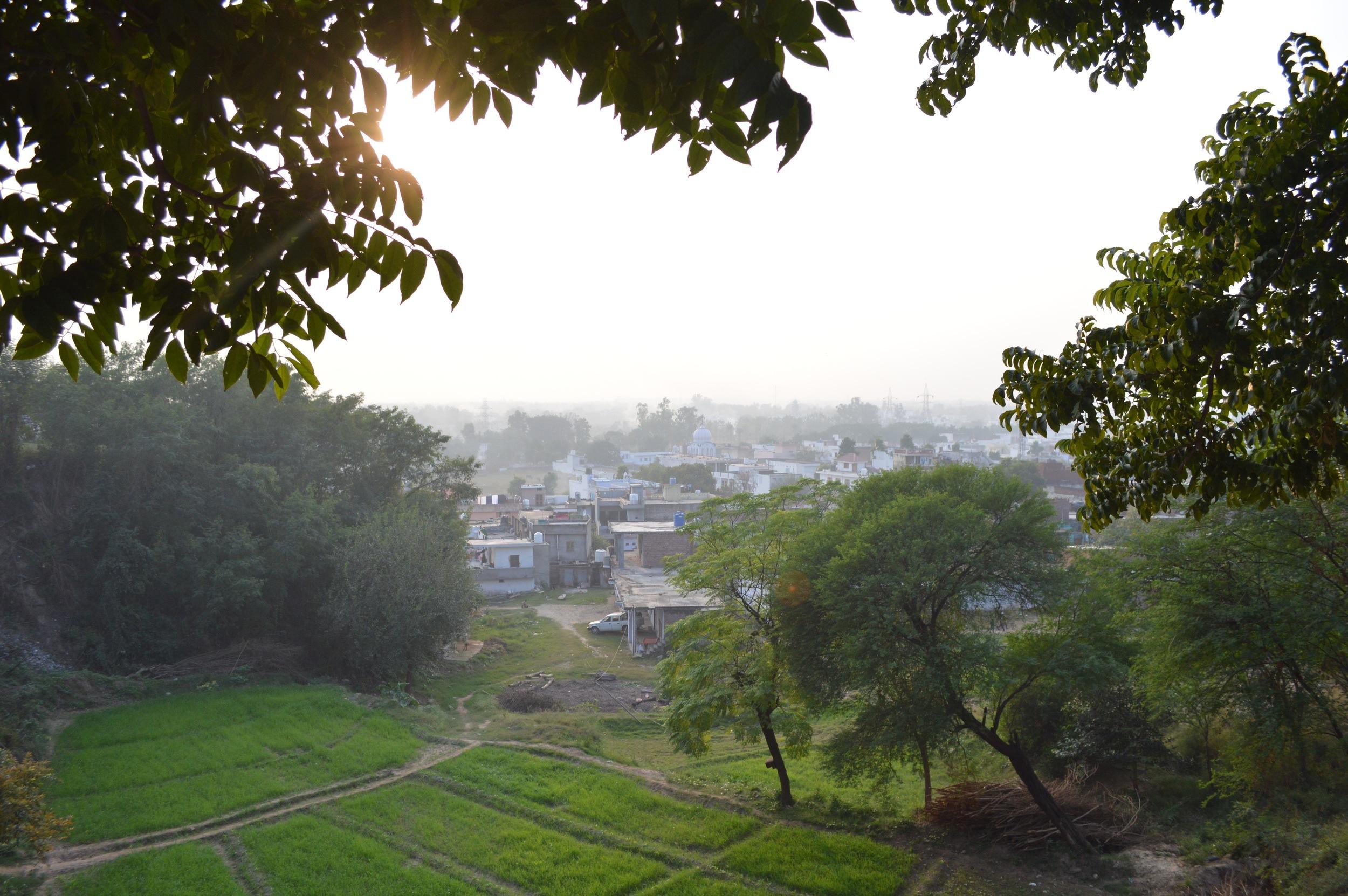 Overlooking Anandpur Sahib.
