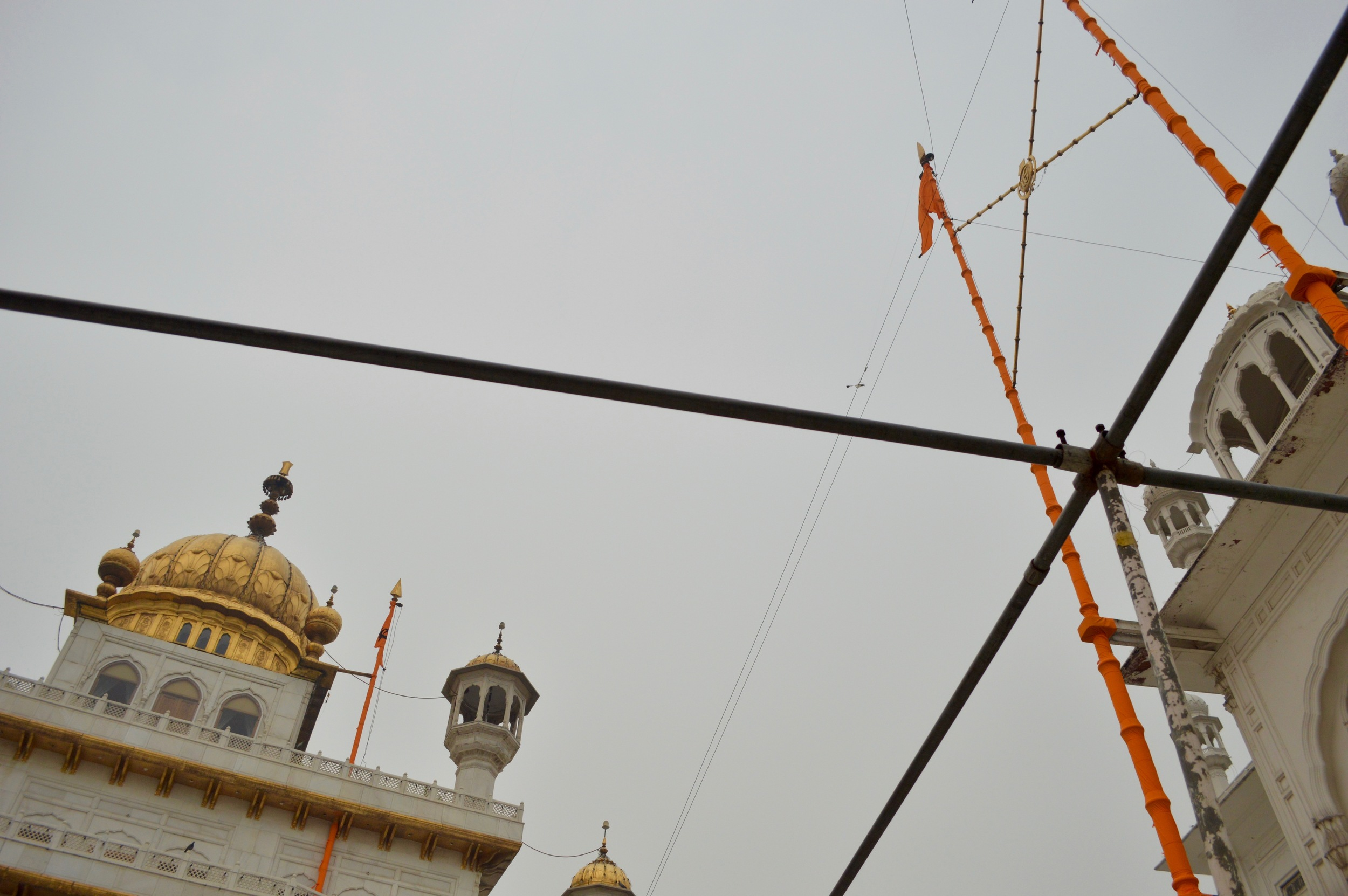 Looking up at Harmandir Sahib Complex, Amritsar.