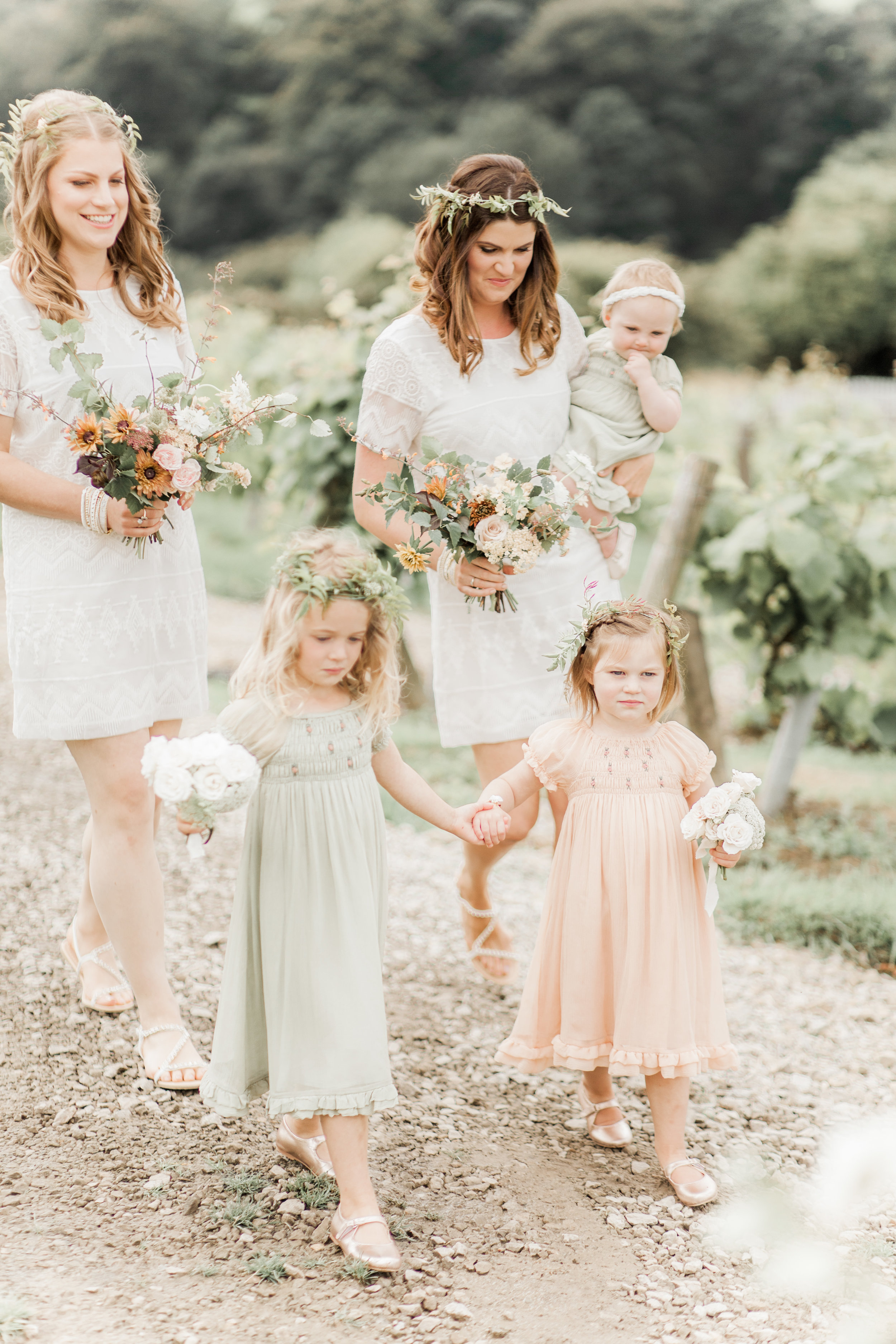 bridesmaid and flower girl flowers