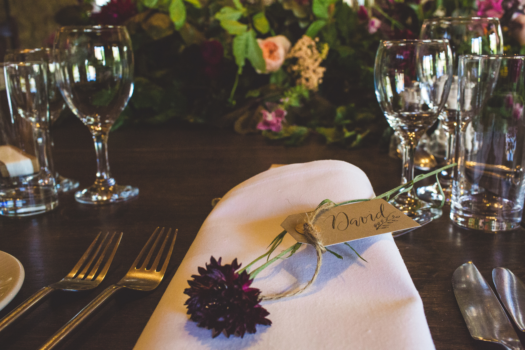 flowers for napkin decor