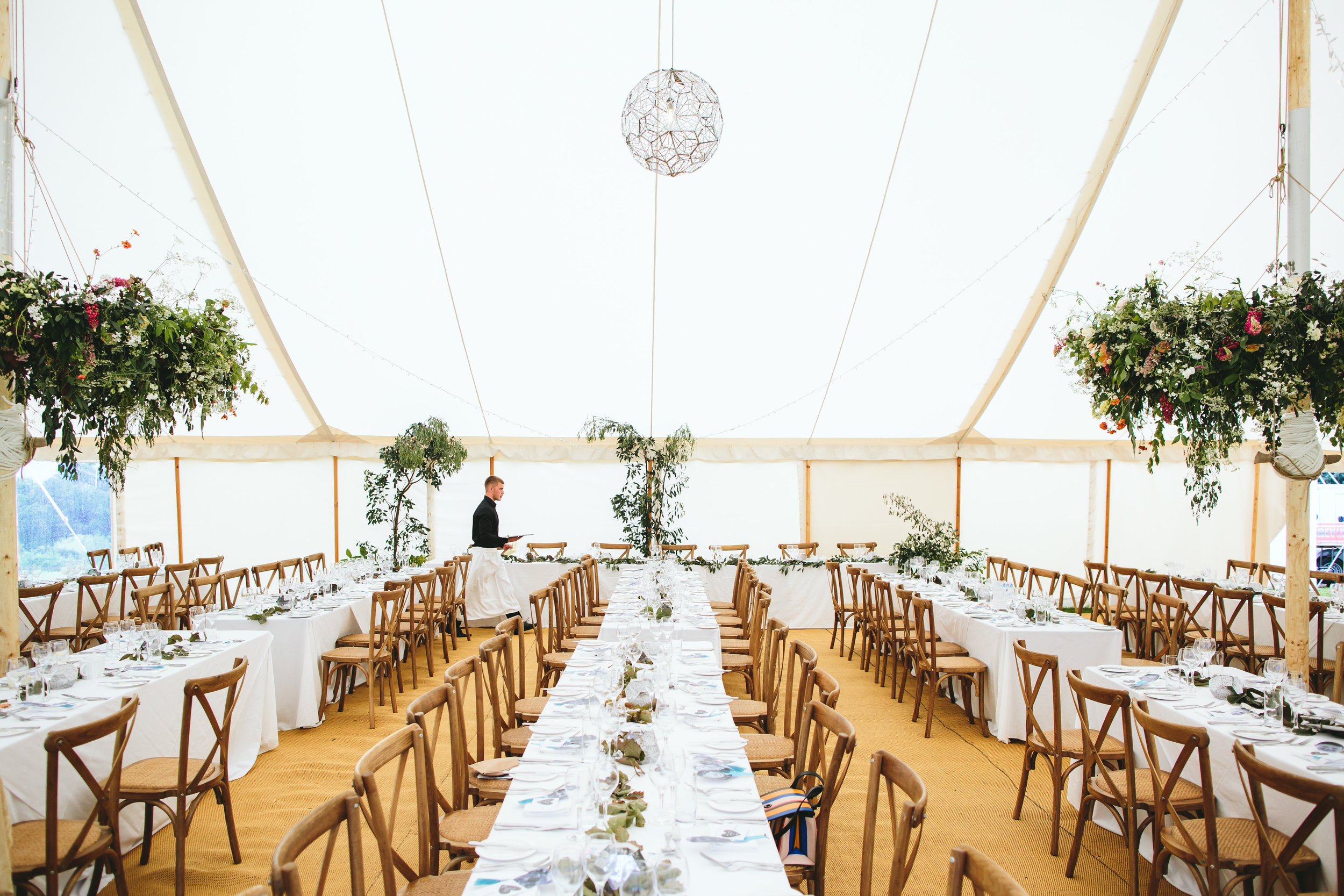 Yorkshire wedding - marquee flowers