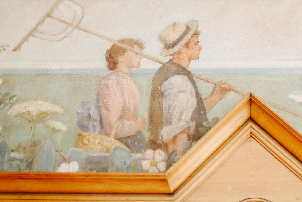 Frieze painted by Frederick Jackson
