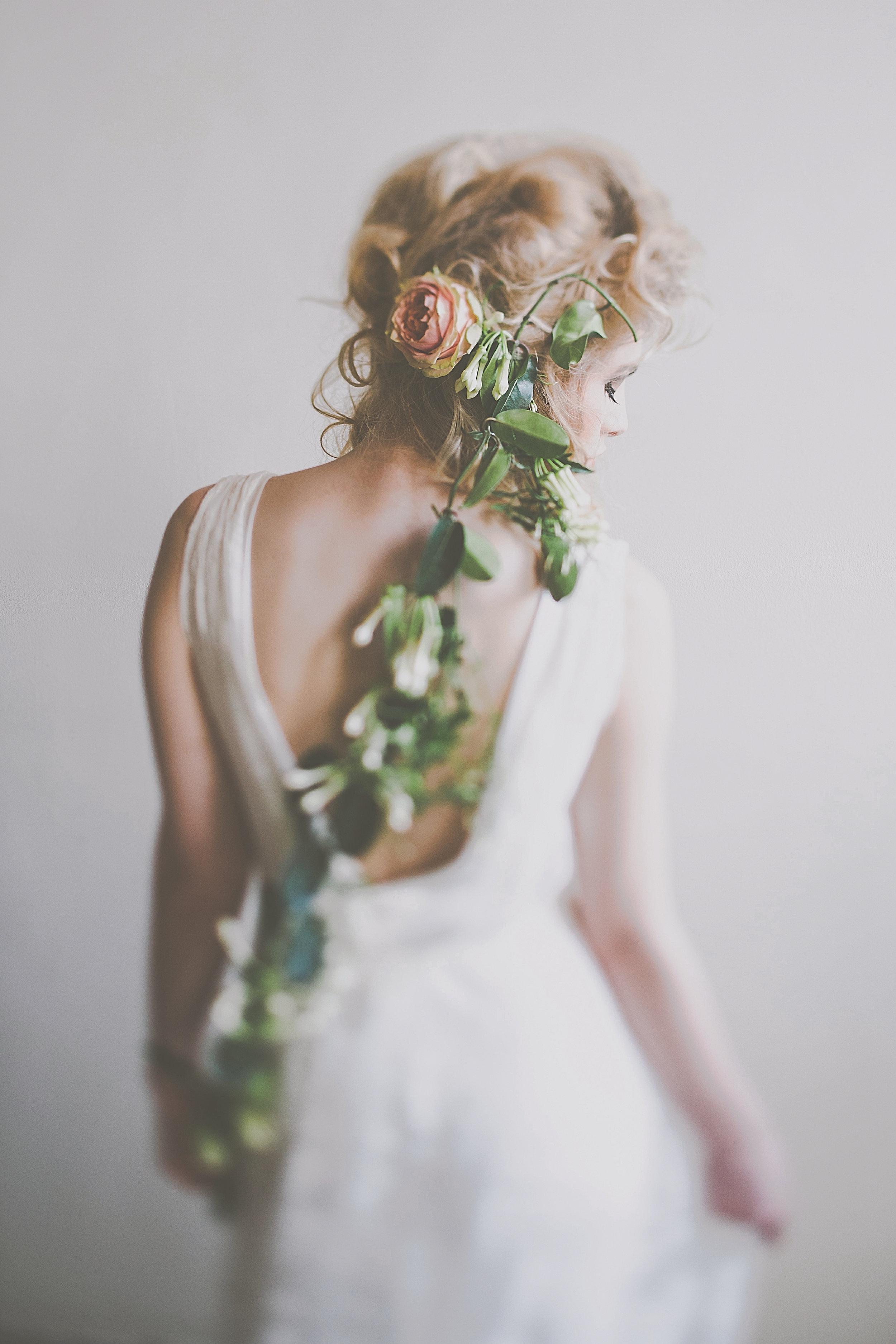 hair flower garland
