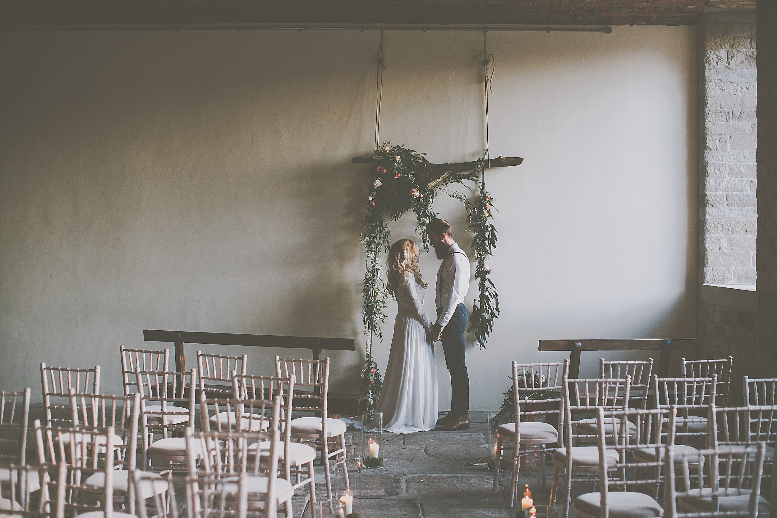 Industrial wedding venue - ceremony