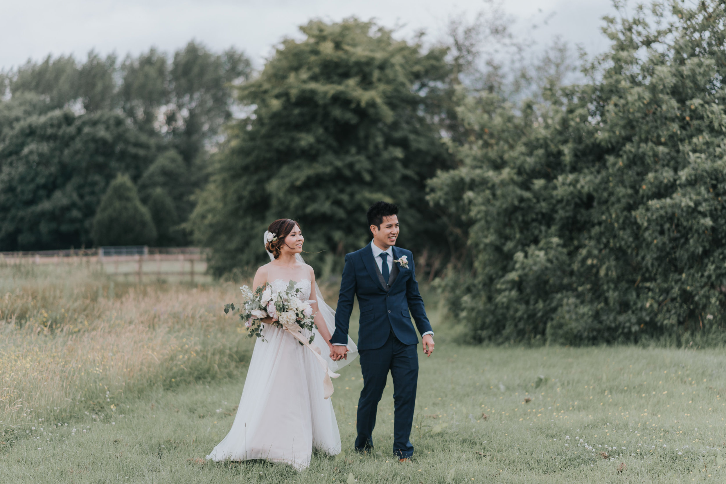 Cheshire bride and groom florals