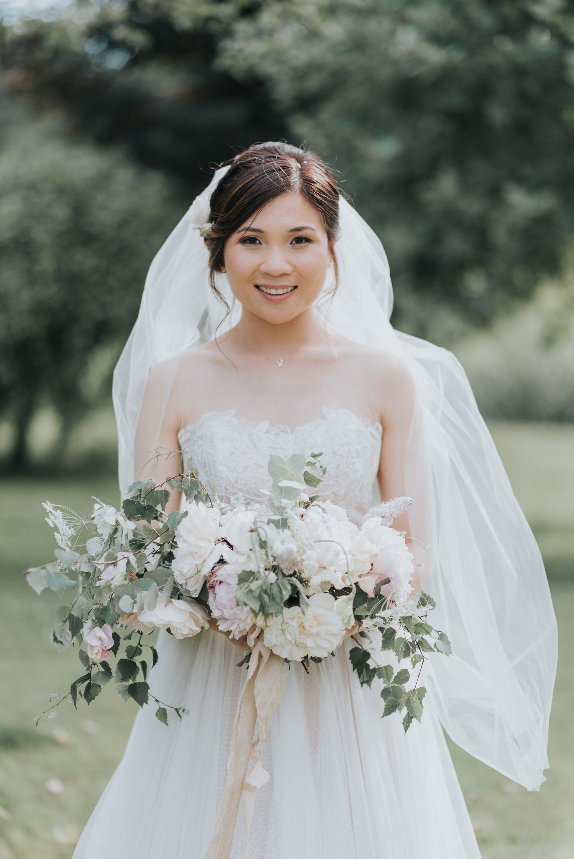 June seasonal bridal bouquet