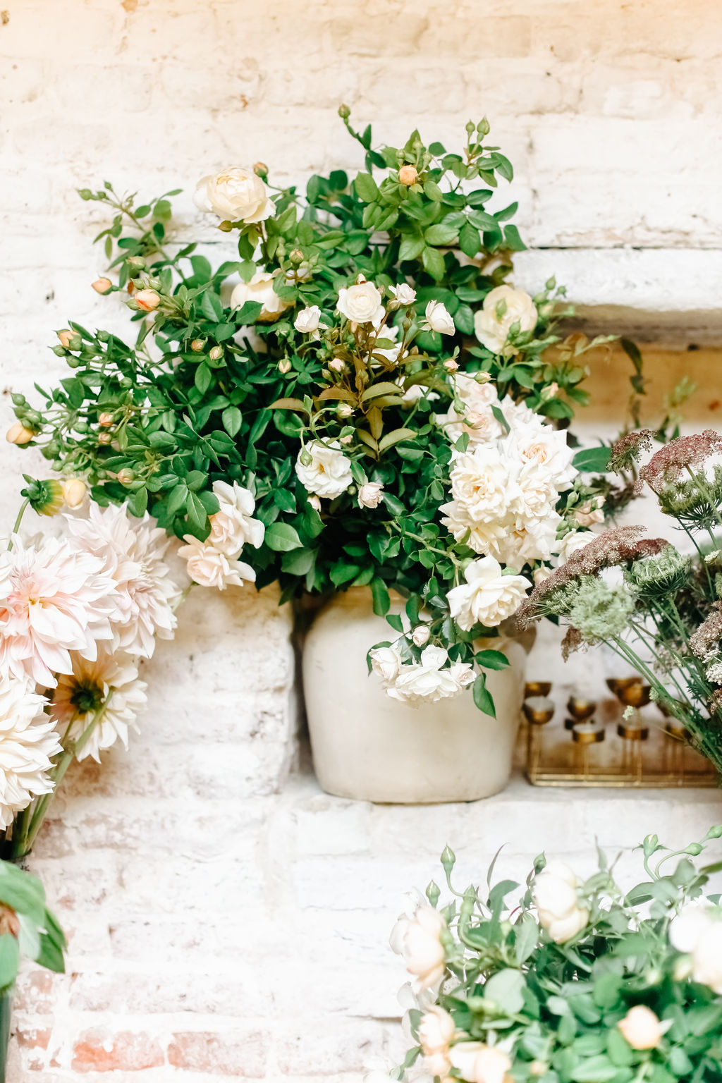 Locally grown roses and other flowers