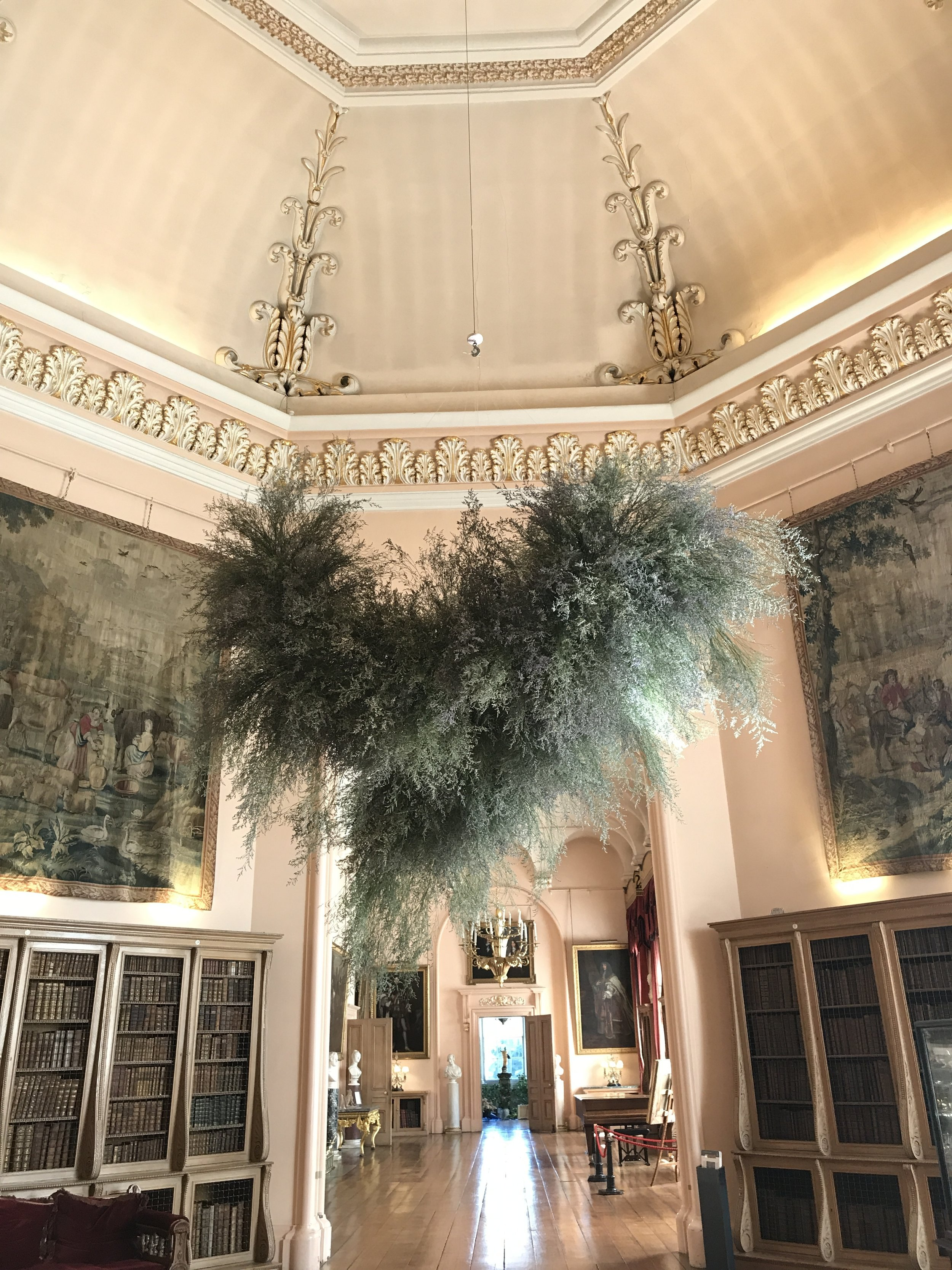 The Cloud. Created as part of Castle Howard Flower Festival 2018 - image Fiona Pickles