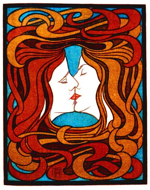 """Image:""""The Kiss"""" by Peter Behrens"""