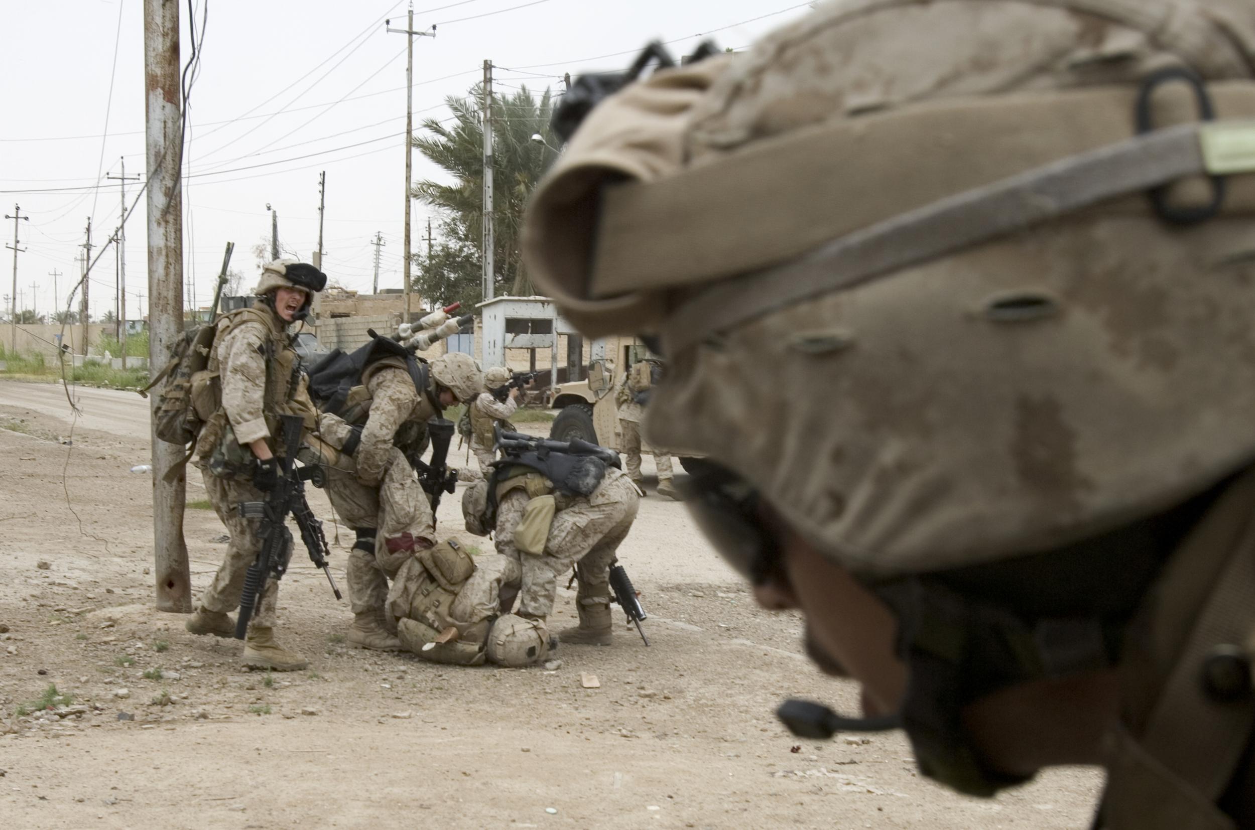 Only The Dead 15 - Credit Yuri Kosyrev _ Noor Images_U.S. Troops under fire in Ramadi.jpg