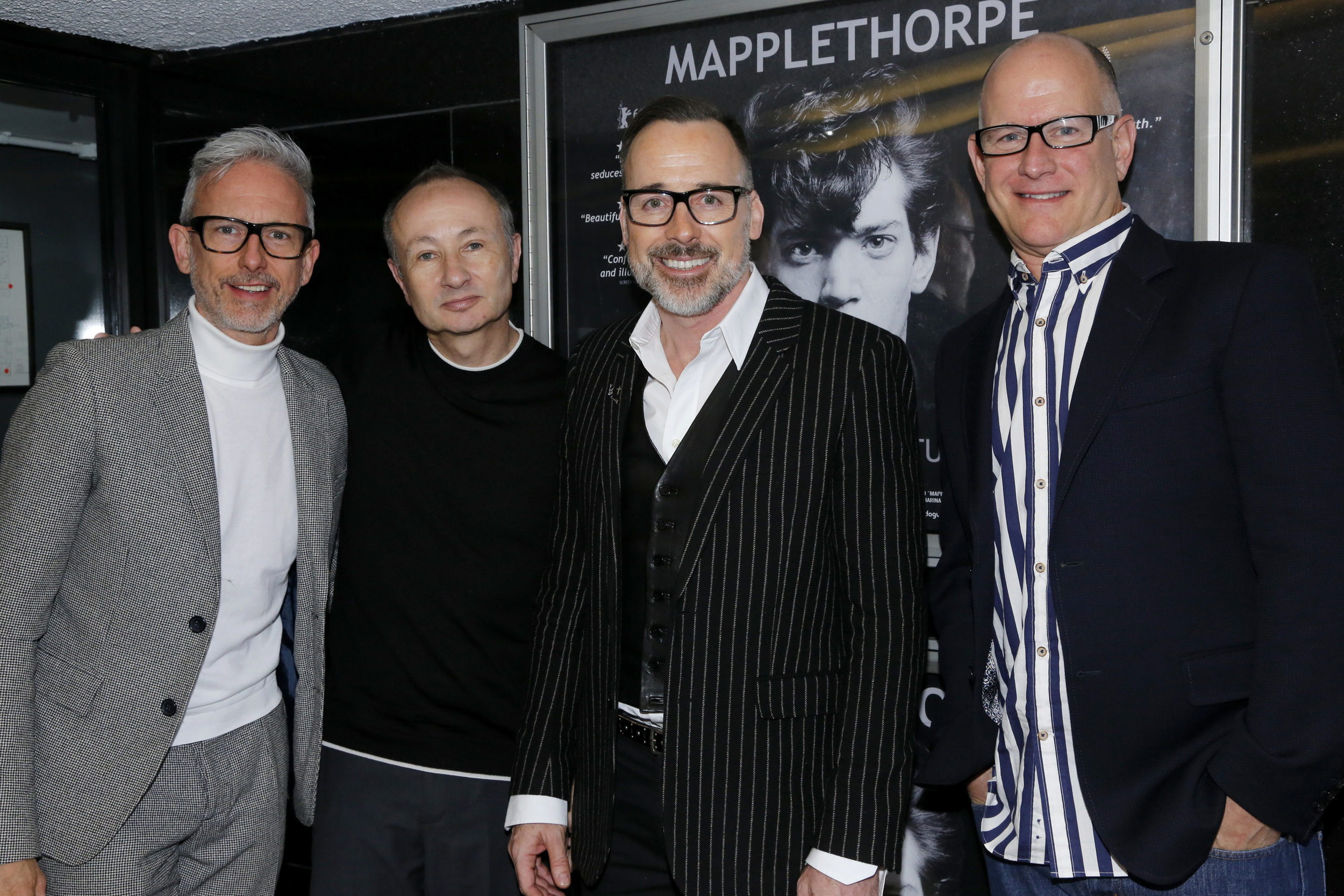 Patrick Cox, Fenton Bailey, David Furnish and Randy Barbato