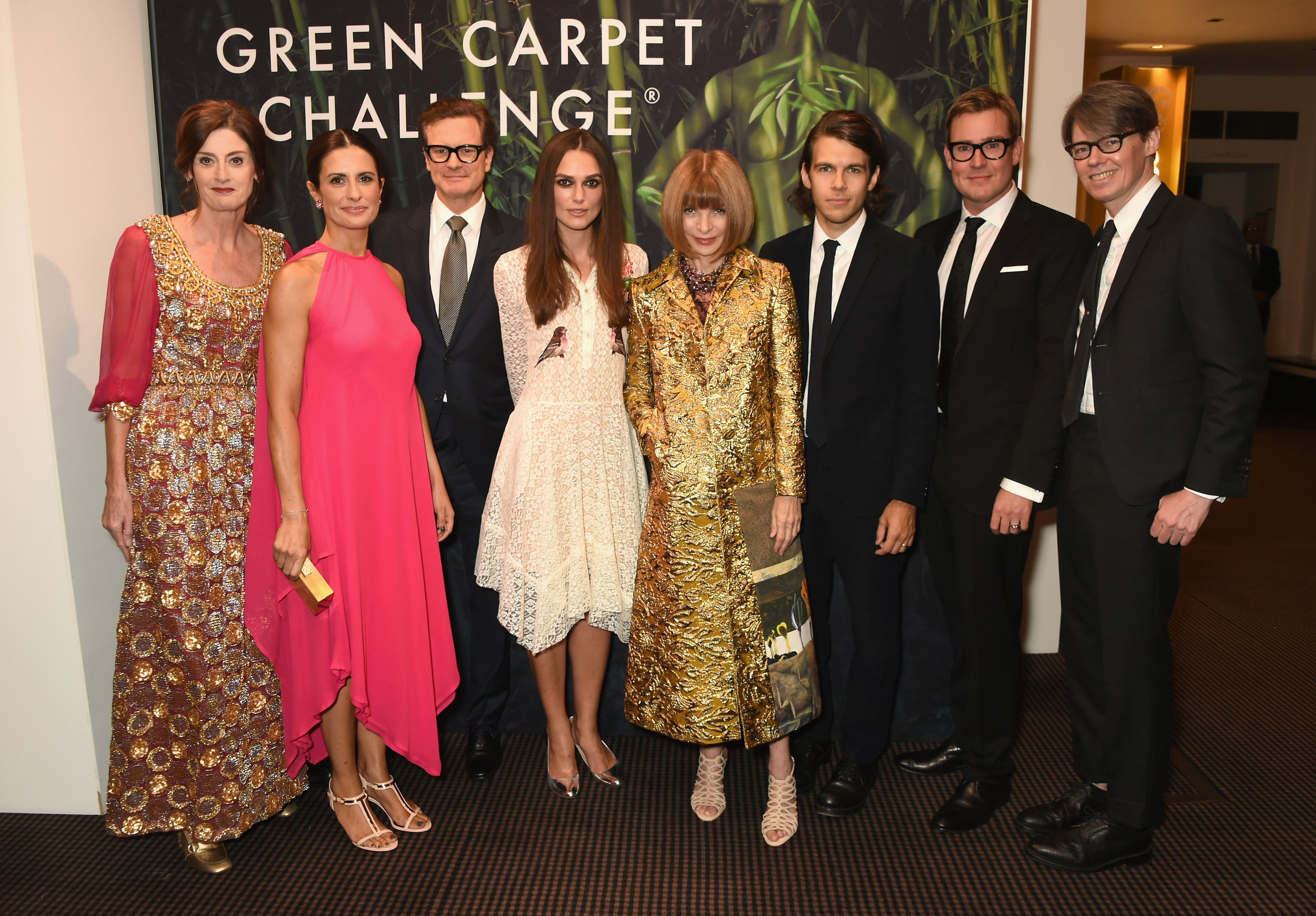 Amanda Berry, Livia Firth, Colin Firth, Keira Knightley, Anna Wintour, James Righton, William Banks-Blaney and Andrew Bolton