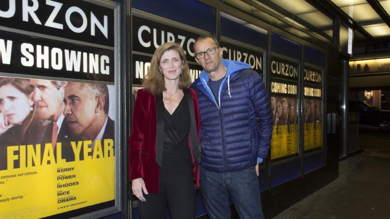 Samantha Power with producer John Battsek