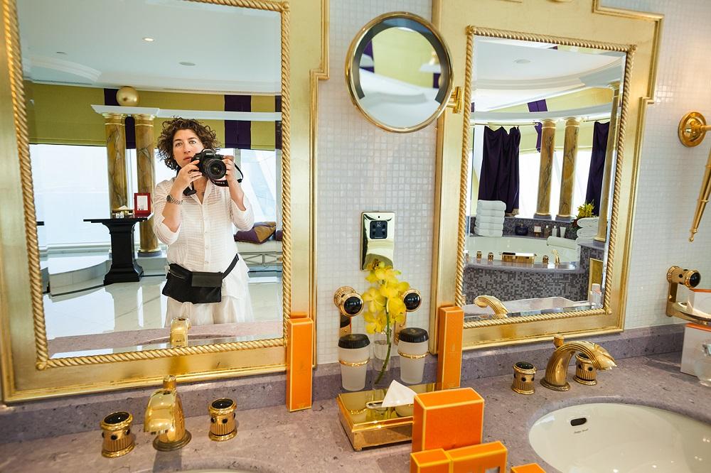 Lauren Greenfield photographs in the Presidential Suite at the Burj Al Arab hotel, Dubai, UAE, 2009. © Lauren Greenfield/INSTITUTE