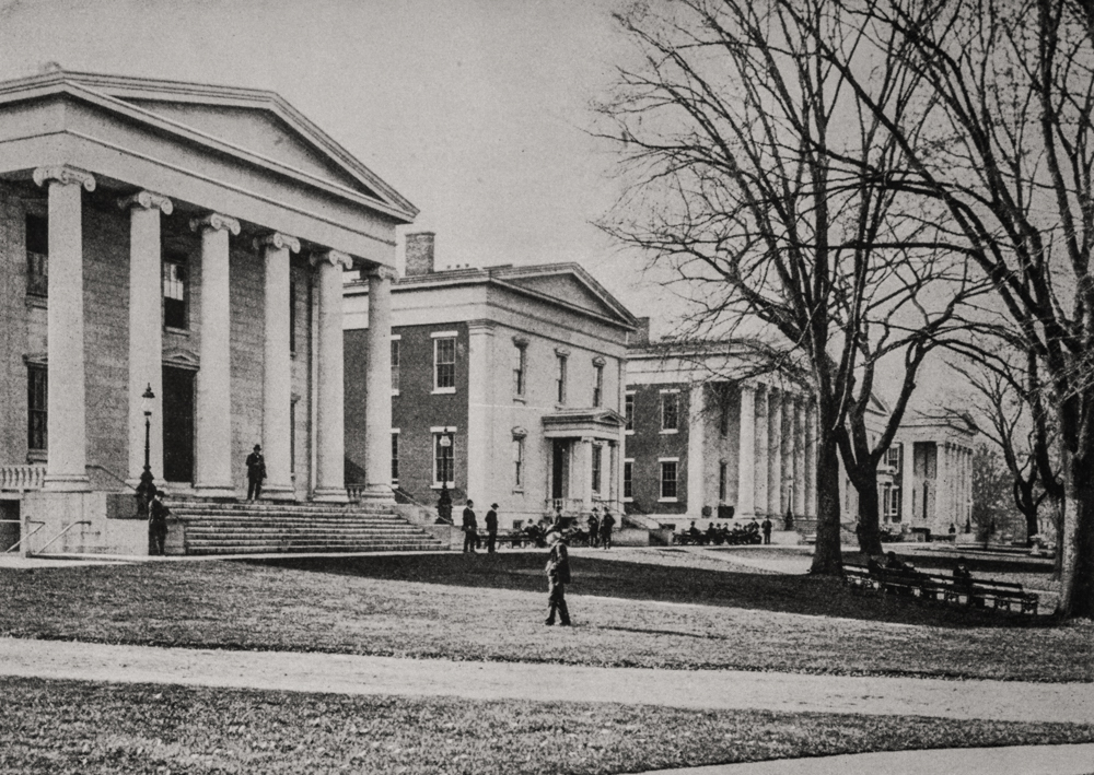 The front lawn and the famous front five buildings, now National Historic Landmarks