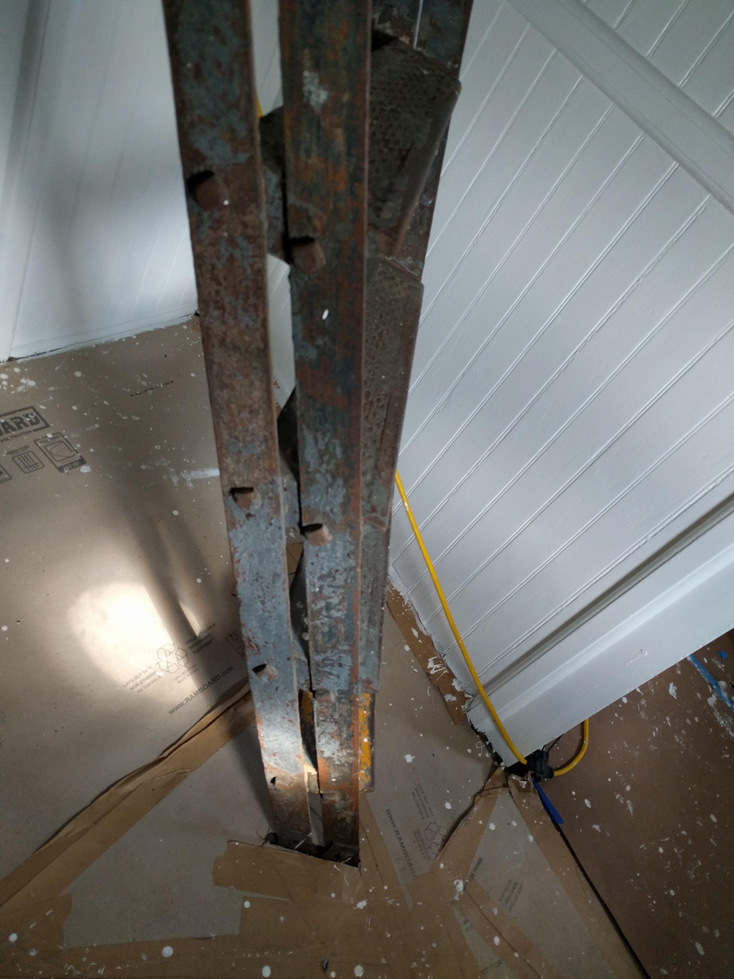4th floor ladder, first sanding.jpg