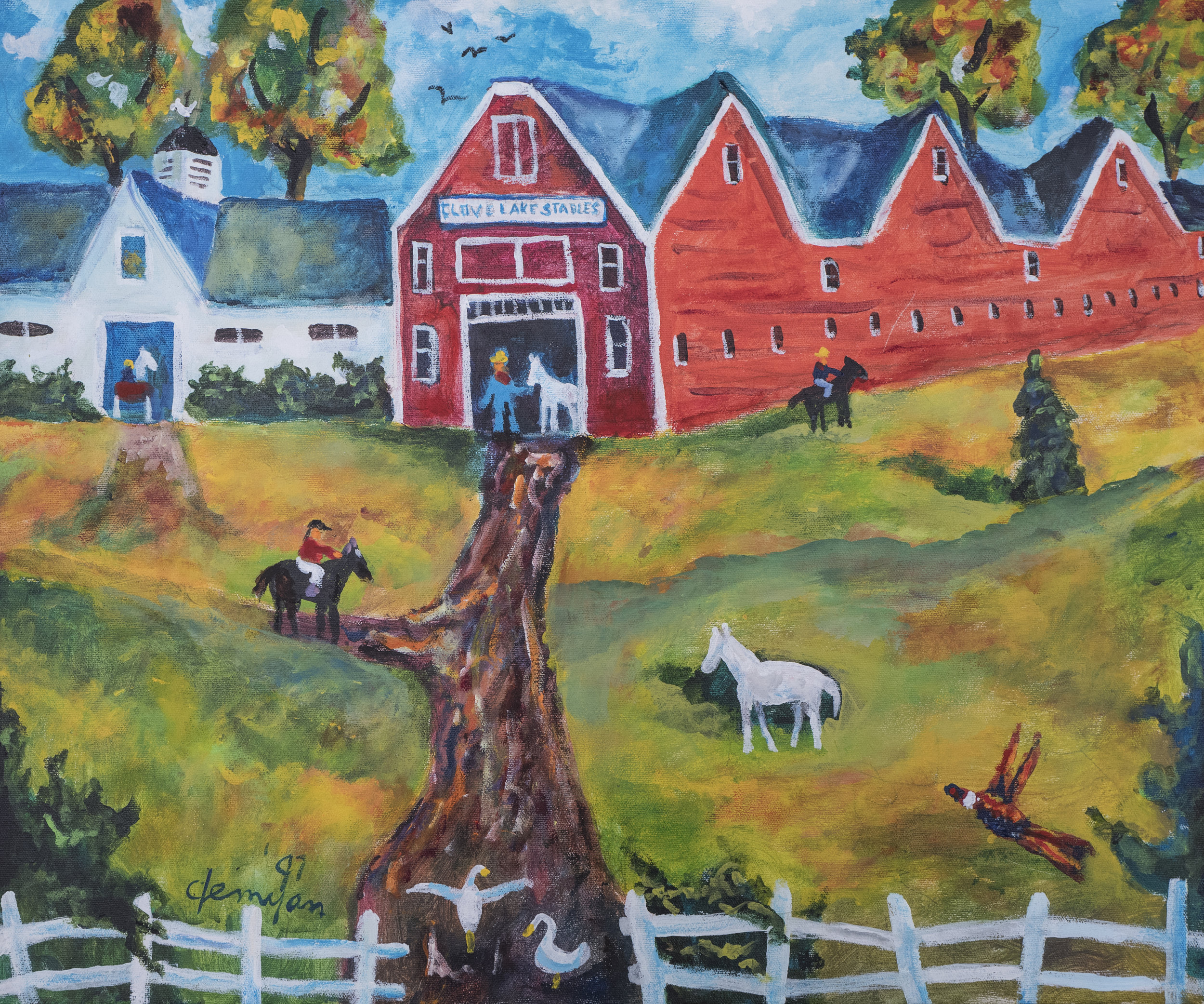 """11. Jack Demyan (1923-1999), """"Clove Lakes Stables"""""""