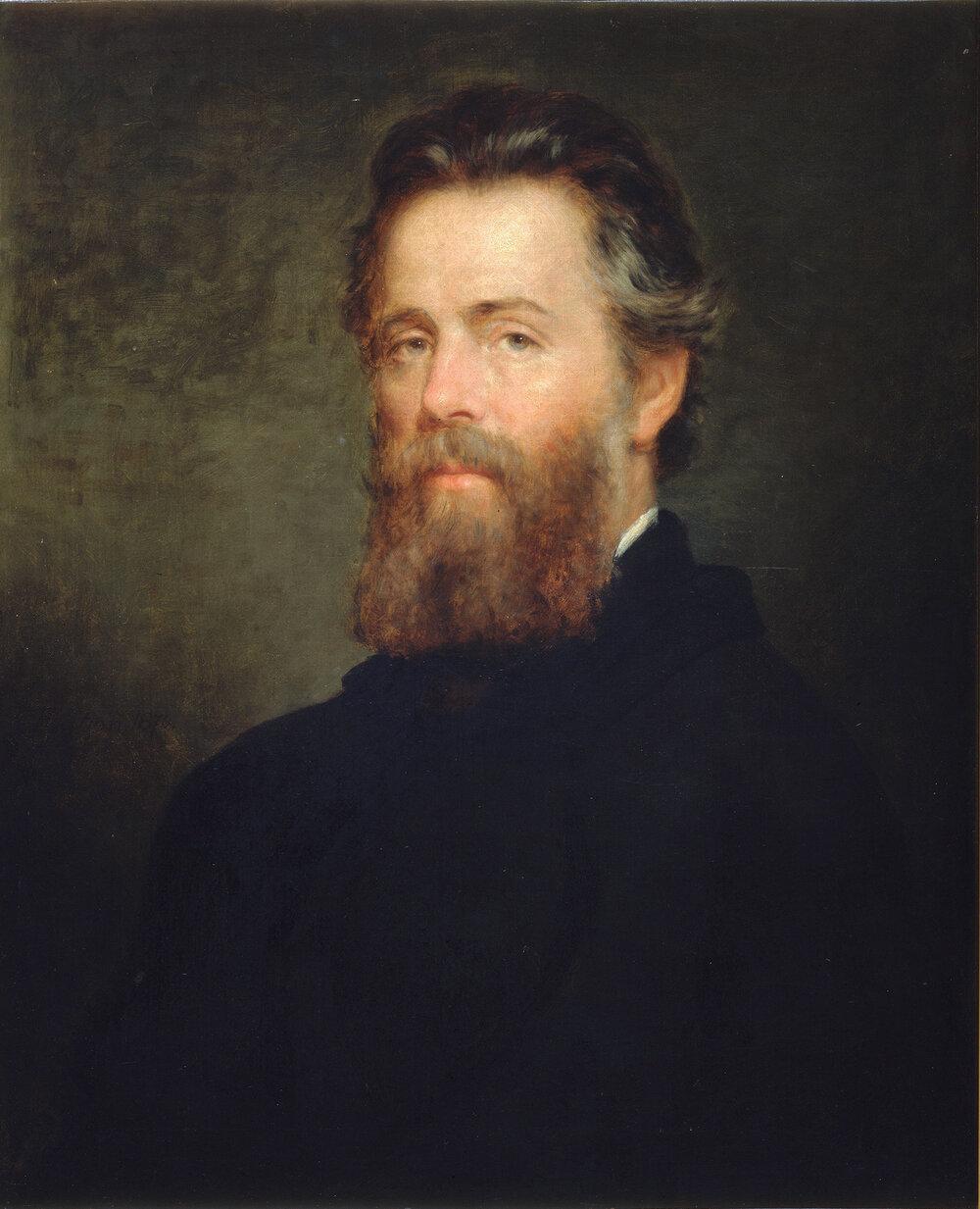 Herman Melville, 1870; oil painting by Joseph Oriel Eaton (1829-1875), the Houghton Library, Harvard University