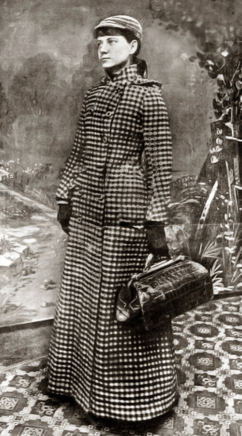 The  New York World  newspaper issued this photograph to publicize Nellie Bly's around-the world-voyage in 1889.