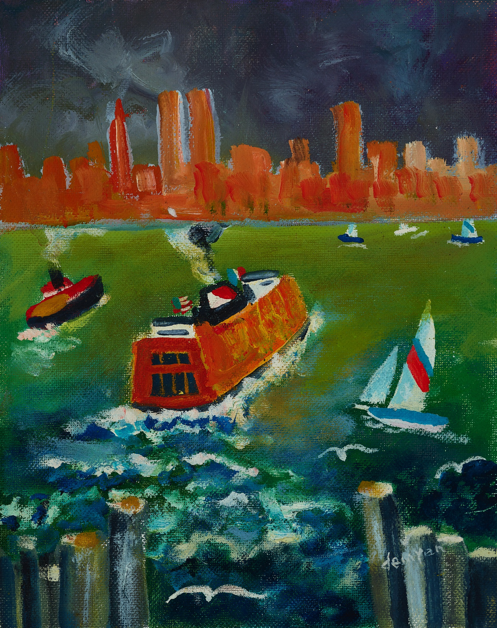 38. Jack Demyan (1923-99), Untitled (The Staten Island Ferry)