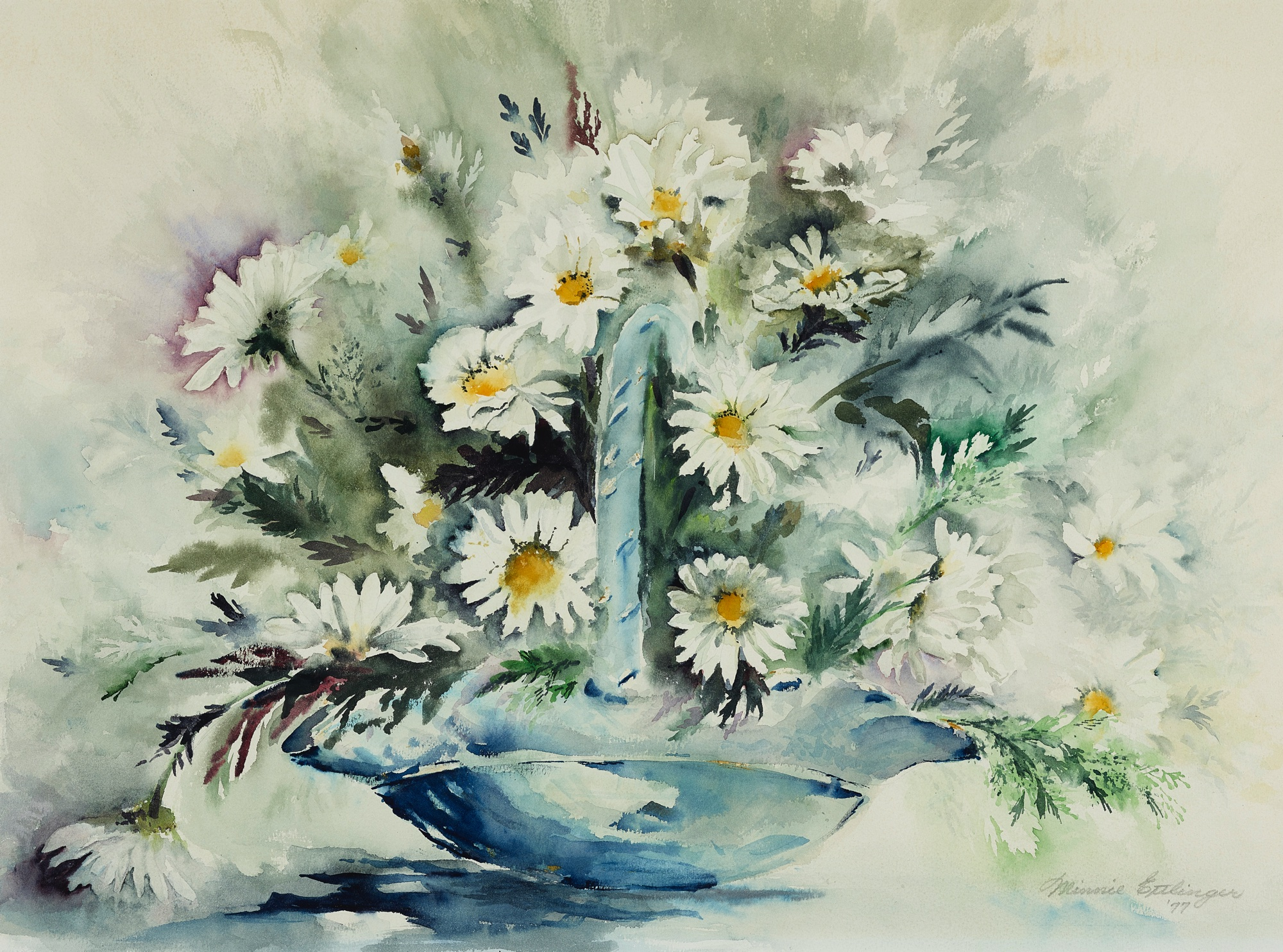 18. Minnie Ettlinger (1919-2006), Untitled (bouquet of daisies)