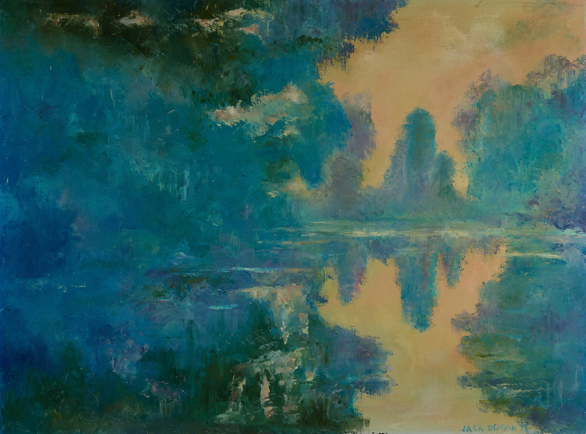 22. Jack Demyan (1923-99), Untitled (landscape in the style of Monet)