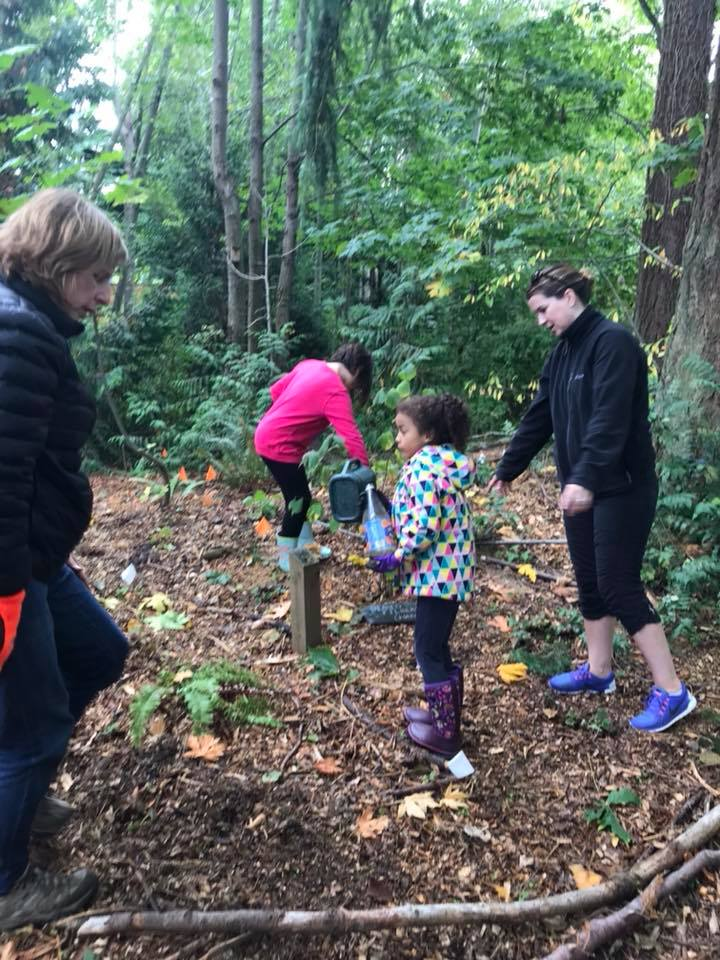 Cleaning up your outdoor classroom or local park.