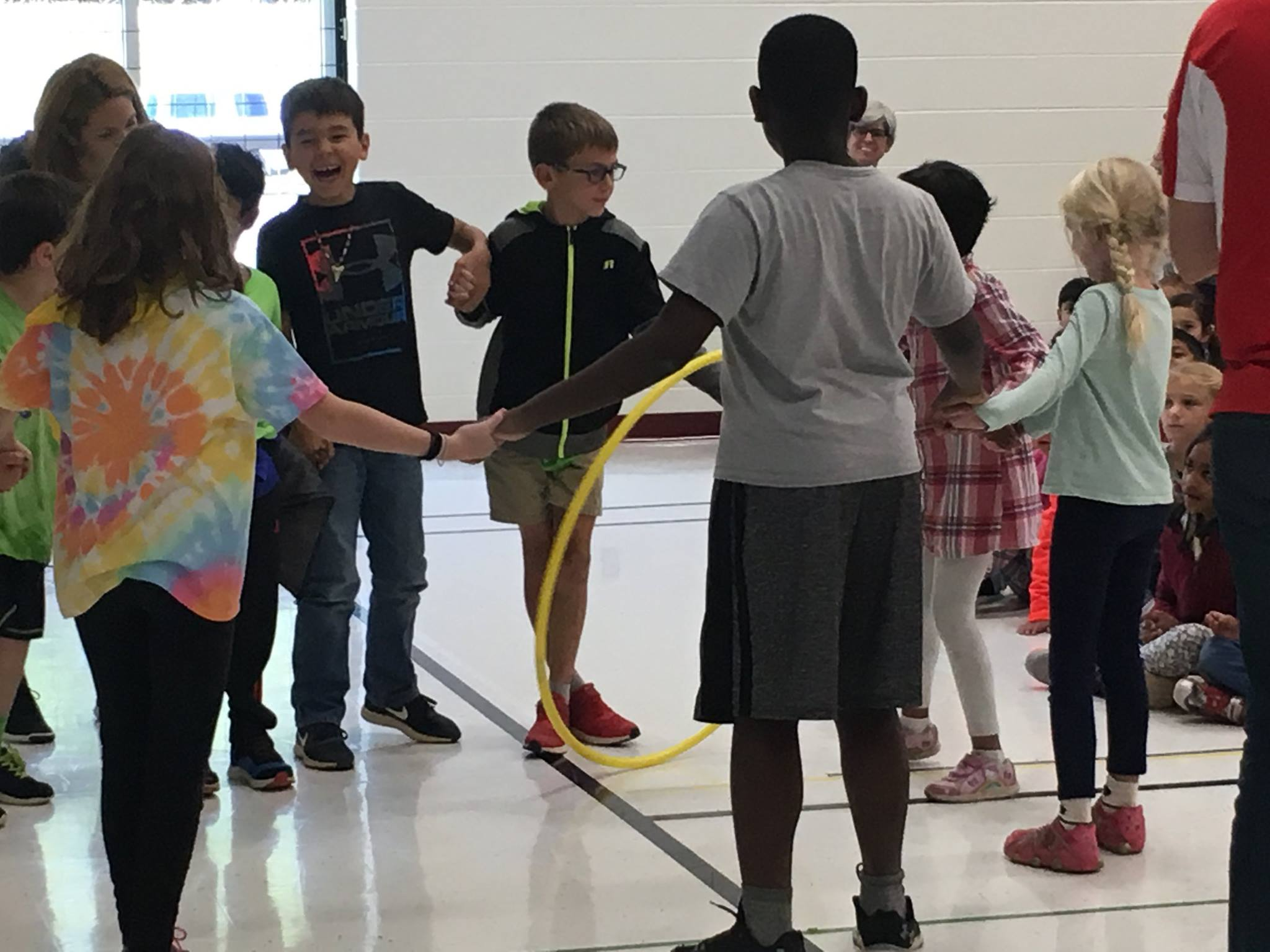 Hula Hoop Challenge game! Directions are in the Kick-Off Program!