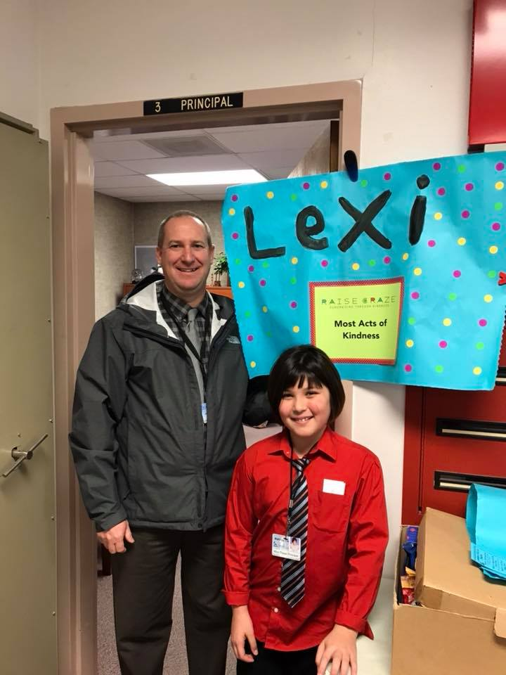 Student who completes the most acts of kindness wins Principal for the Day!