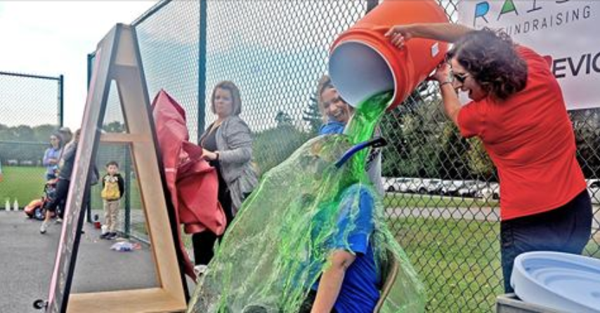 If your school reaches their goal, the principal gets slimed!