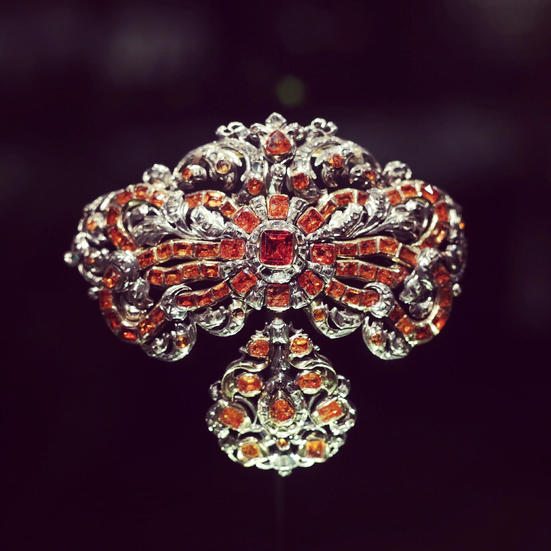 Ruby and Diamond Pin