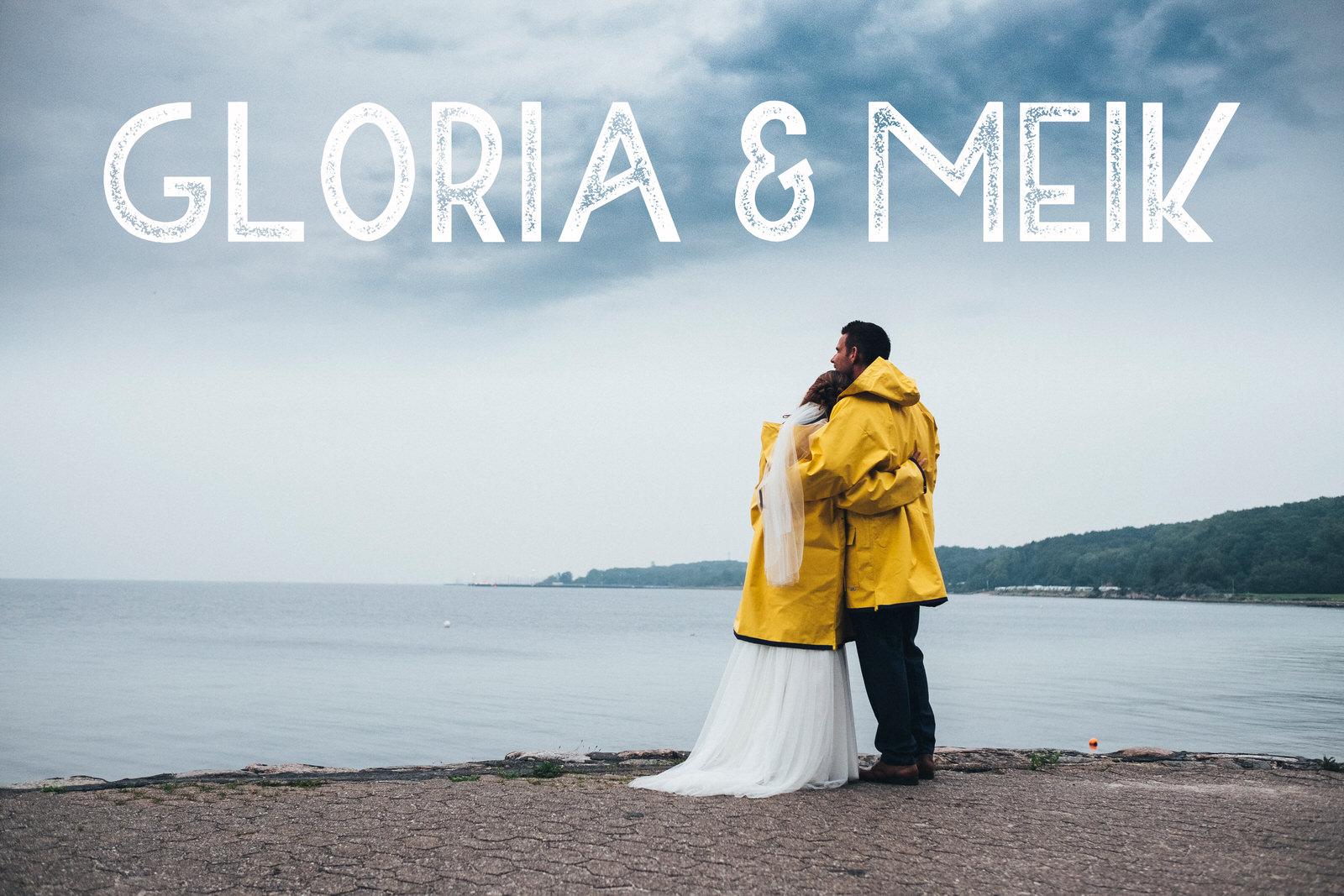 Click image to view this rainy wedding!