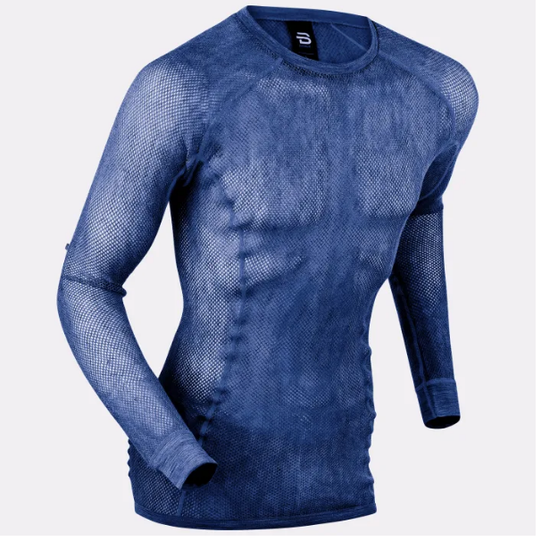 Allnet Baselayers   Dæhlie's Airnet Wool Allnet Baselayer is the ultimate Merino Wool baselayers with all-over mesh nettings, made for optimal breathability and perfect moisture transportation. Merino Wool keeps body at optimal temperature at all times and provides natural benefits including odor resistance, wicking, fast drying, thermal, hypoallergenic and anti-static properties, while the unique netting ensures athletes stay cool during intense workouts. Consists of 80% Merino Wool and 20% nylon.