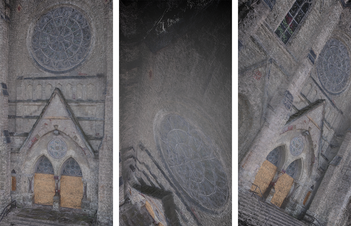 Drone Pointilism  Combine a drone, a camera, and photogrammetry software for 3D reconstructions of otherwise inaccessible places. Drone  | Point Cloud  | Code  | Photogrammetry