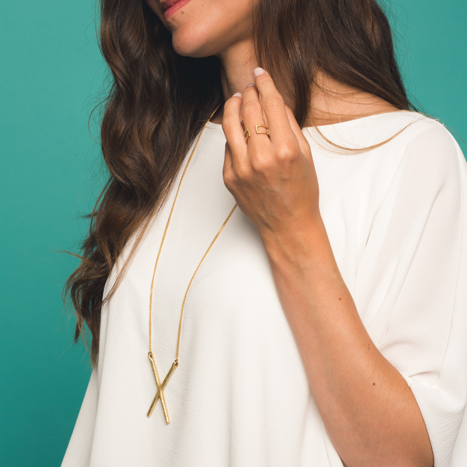 Intersect necklace + Emblem ring