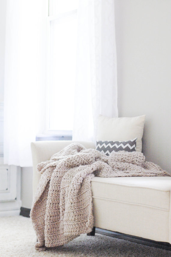 Love this chunky throw by  Ozetta  on Etsy. Giving the gift of cozy is perfect for February!