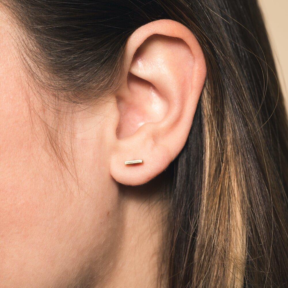 Handmade Stud Bar Earrings