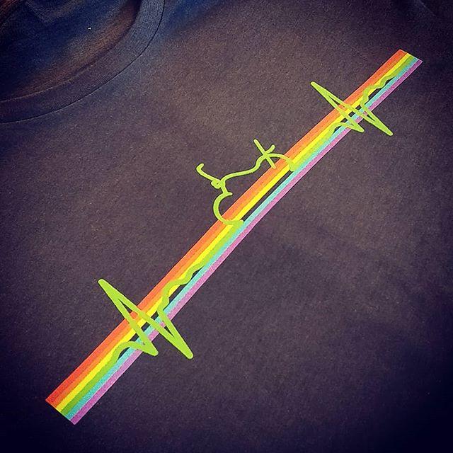 Biker pride 🌈 #rainbow  #pride #screenprinting #exeter #devon  #roarclothinguk
