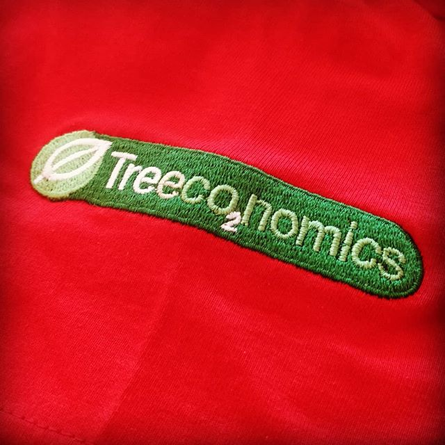Screen printed front with embroidery on sleeve #keepcalm #trees #embroidery #screenprinting #exeter #devon #roarclothinguk